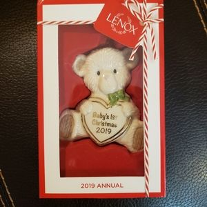 Lenox Baby's First Christmas Bear 2019 Ornament